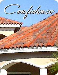 Terra cotta colored tile roof