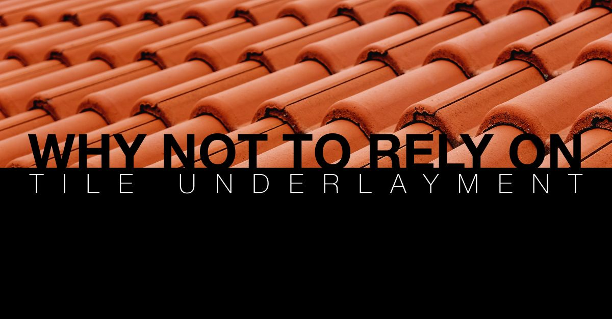Why You Shouldn't Rely on Tile Underlayment