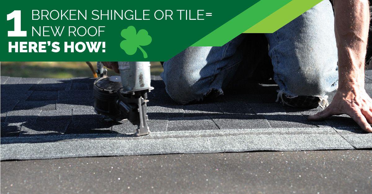 1 Broken Shingle or Tile = 1 New Roof -- Here's How!