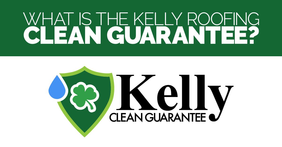 Kelly Roofing Clean Guarantee Logo