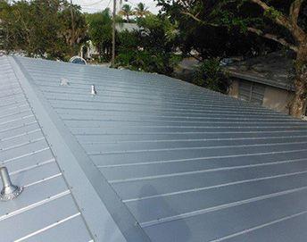 Metal silver roof