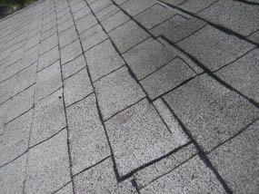 Offset not correct on black shingle roof