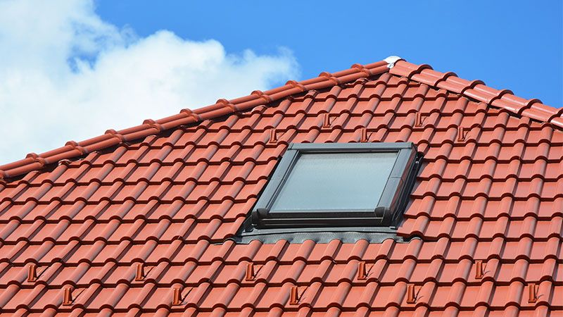 Skylight in a tile roof