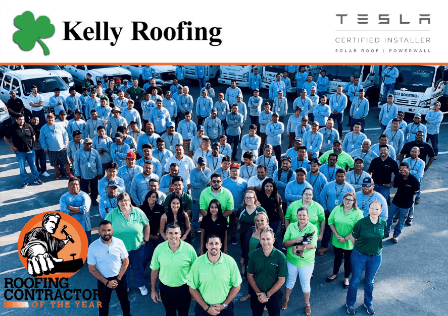 Roofing Contractor Of The Year: Kelly Roofing Team photo